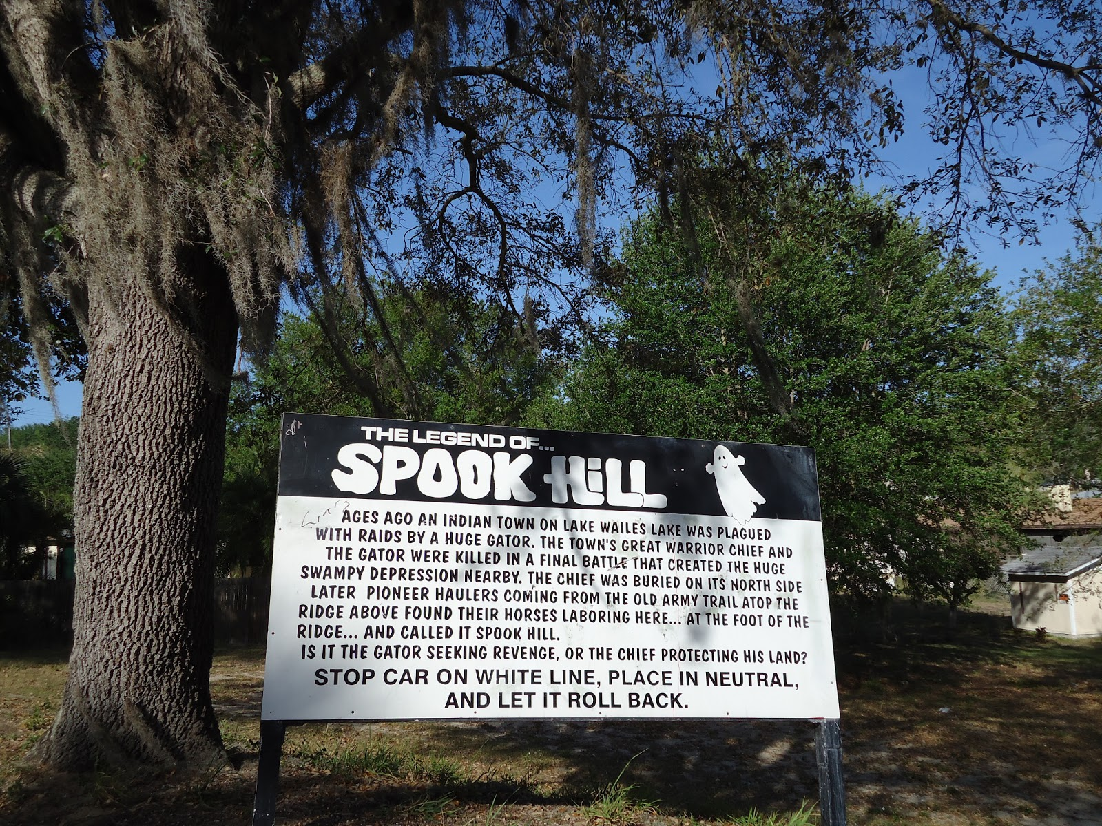 spook hill sign - Cassadaga Halloween